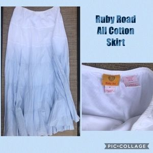 Long cotton skirt by Ruby Road -6